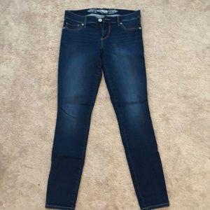 Express Stella Low Rise Denim Jean Leggings Size 8
